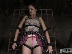 Masked slave Haley could not stop screaming from master's spider scare torment
