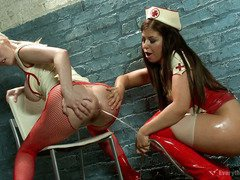 Horny nurses are releasing their kinky needs for hardcore anal pleasuring
