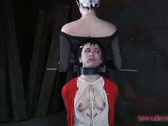 Sweet slave must surrender her juicy twat and body for mistress punishment