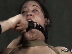 The sound of sweet babe writhing with pain turns on bespectacled mistress