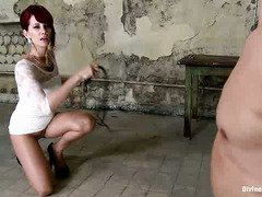 Redhead mistress wants hunk to submit to her powerful and dominating presence