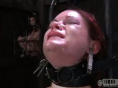 Demure babe is crying profusely from master's excruciating punishment