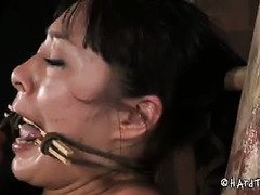 Master needs to quench his hungry sex appetites by tormenting sweet babe's tight cunt