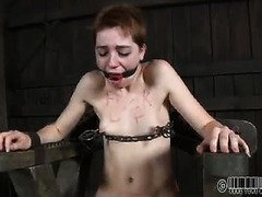 Short haired fuck up whore is begging profusely for her members to let her cum