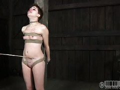 Crying short-haired slut needs master's approval in order to achieve her orgasms