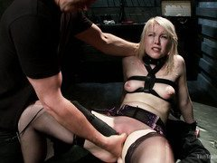 Blonde fuck slut will get continuous punishment until she learns her lessons well