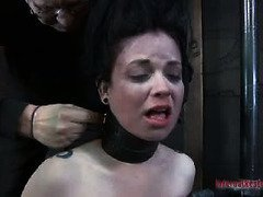 Bounded alluring babe is tortured by a demanding mistress for lying to her
