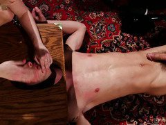 Handsome stud's youth and vigor makes blonde mistress wants to punish him more