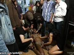 Sweet choco darling receives a sinister and uncouth public punishment