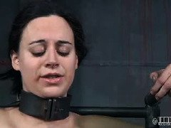 Babe gets electro punishment for the obscene disregards she has on her health and body