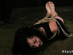 Master's despicable punishment is causing lovely babe to scream with pain pleasures