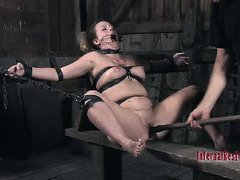 Screaming slave receives an excruciating and despicable bondage punishment