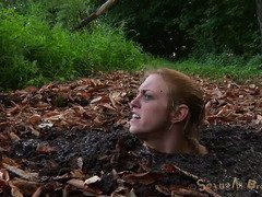 Busty blonde could feel her life ebbing away from the quicksand sucking