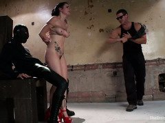 Naughty and wanton slave needs to get punishment as she came to serve the house