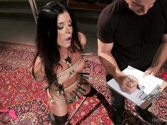 Sultry babe is given hardcore slave training in order to amend her bitchy ways