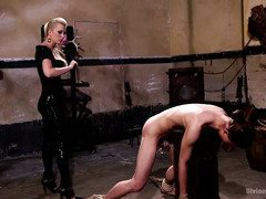 Young stud is sent to mistress for therapy as he is a chronic masturbator
