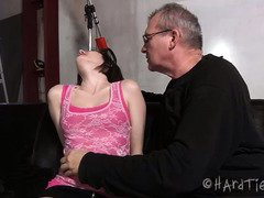 Alluring sweeetheart with giant clits gets a rough spanking session from her members