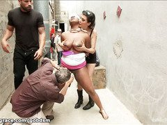 Rough and sensational back alley fucking humiliation for massive tits choco darling