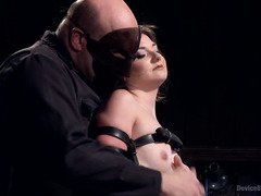Watching babe suffering under his wicked punishment pleases masked master