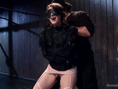 Wicked and torturous pussy punishment for naughty brunette slave
