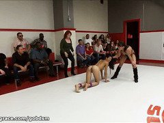 Beauty has to endure a severe public humiliation for losing her wrestling match