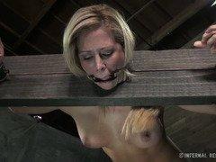 Demure big tits blonde sweetheart could not escape her bondage predicament