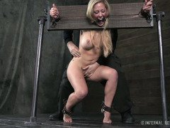 Demure big tits blonde sweetheart could not escape her bondage predicament