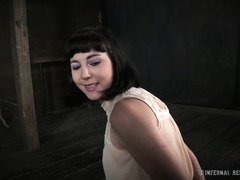 Submissive beauty is succumbing to tough master's kinky punishment