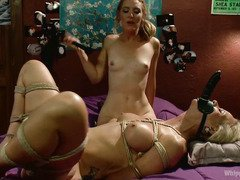 Big tits blonde step-mum becomes the fuck slave of her horny step-daughter