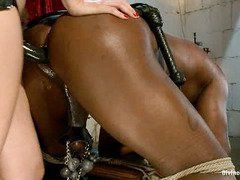 Demanding mistress wants black stud to submit totally to her powerful wants