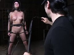 Stunning slave endures a grueling and wicked punishment for her smoking hot body
