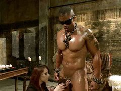 In order to earn mistress cunt, handsome hunk has to endure severe punishment