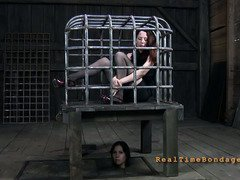 Sweet slave enjoys the painful and erotic sensations received during punishment