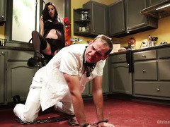 Pregnant mistress is punishing the milkman for being such a horny stud
