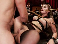 Two slutty slaves are screaming with ecstatic joy from their rough fuck sessions