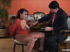 Beautiful brunette endures rough spanking and flogging on her hot body