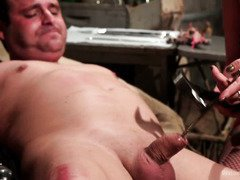 Nasty mistress cast a painful spell on stud's pecker through her voodoo doll
