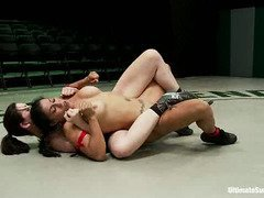 Tough fighter babes are battling in the arena for total dominance and control