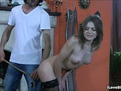 Petite slave needs to abide by tough master's lusty rules and punishment