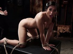Big boobs Asian pet slave needs to surrender her horny twat for master's lusty play