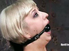 Bounded blonde must endures constant pain in order to pleasure master lusty's needs