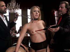 Captivating blondes are having an awesome time being fuck slaves at the house