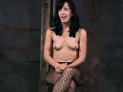 Being in bondage and suffering from master's punishment gives babe great orgasms