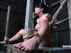 Babe's nipples are all tender with raw pain from master's relentless punishment
