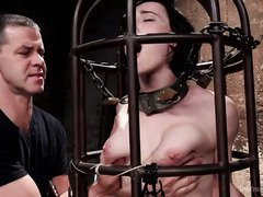 A lusty and grueling day of assessment for captivating nude slave beauty