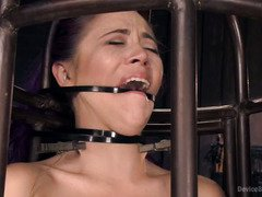 Crying slave beauty endures master's harsh and tenacious punishment bravely