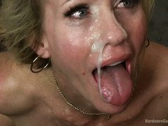 Hot blonde milf rewarded her pussy saviors by letting them gangbang her
