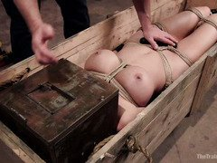 Big hooters milf promises to be a good slave during her rough training session