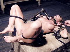 Excruciating pain pleasures punishment for captivating big hooters milf