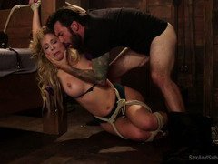 Alluring blonde enjoys fulfilling her helpless and fear fantasy from master